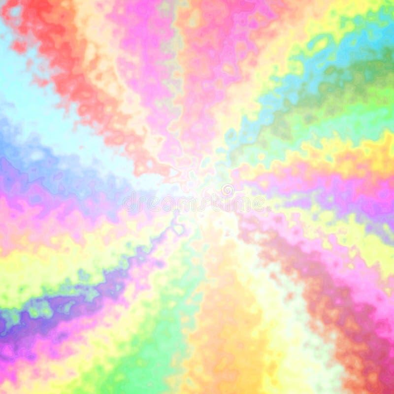 Fundo colorido deformado alegre engraçado dos raios ilustração stock