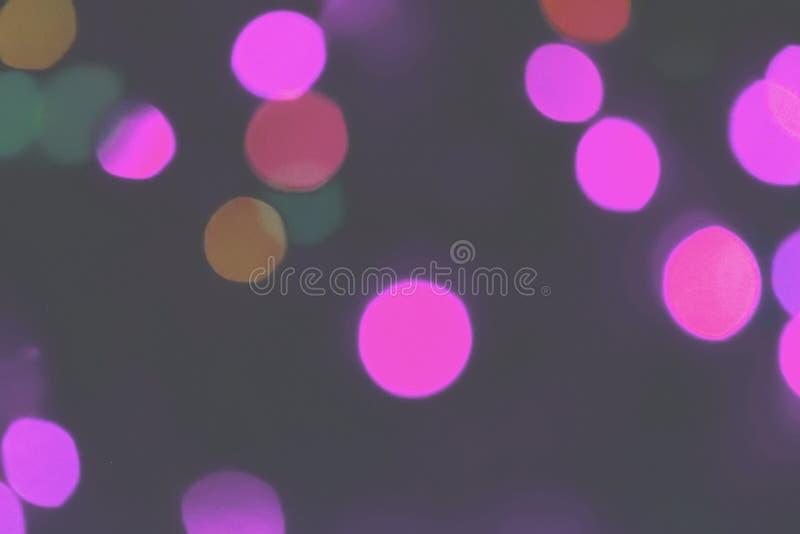 Fundo colorido do bokeh das luzes, Chrismas imagem de stock