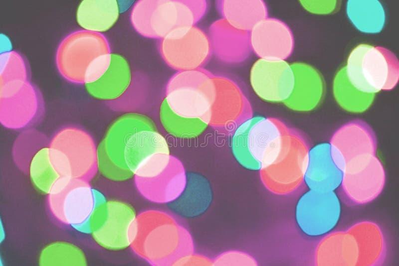 Fundo colorido do bokeh das luzes, Chrismas fotos de stock royalty free