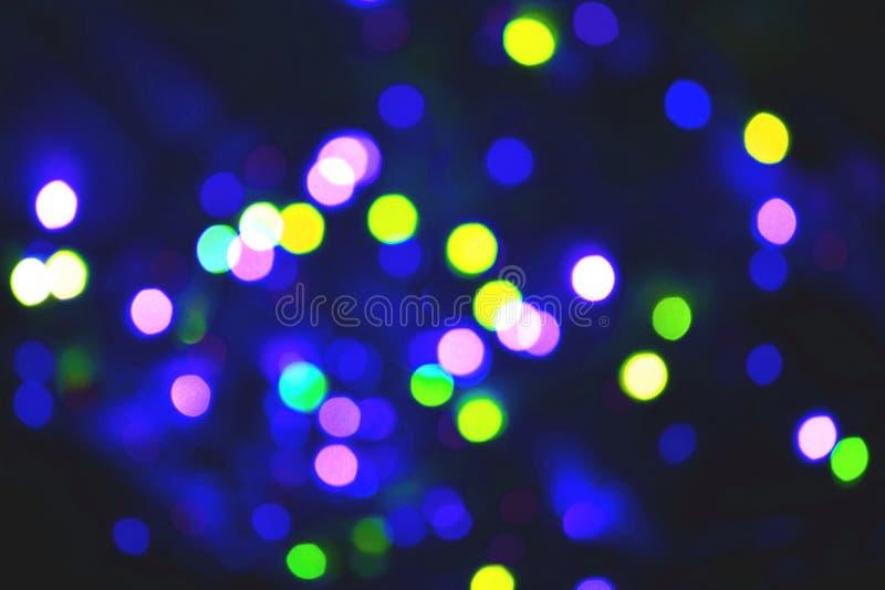 Fundo colorido do bokeh das luzes, Chrismas foto de stock royalty free