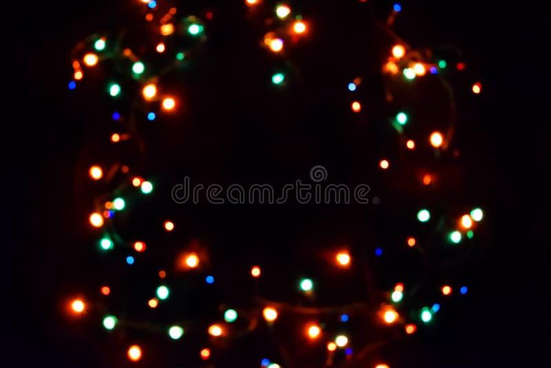 Fundo colorido do bokeh das luzes, Chrismas fotografia de stock royalty free