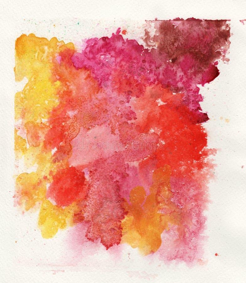 Fundo colorido do branco do respingo da aquarela ilustração do vetor