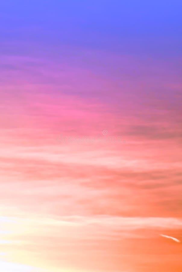 Fundo colorido do céu fotografia de stock