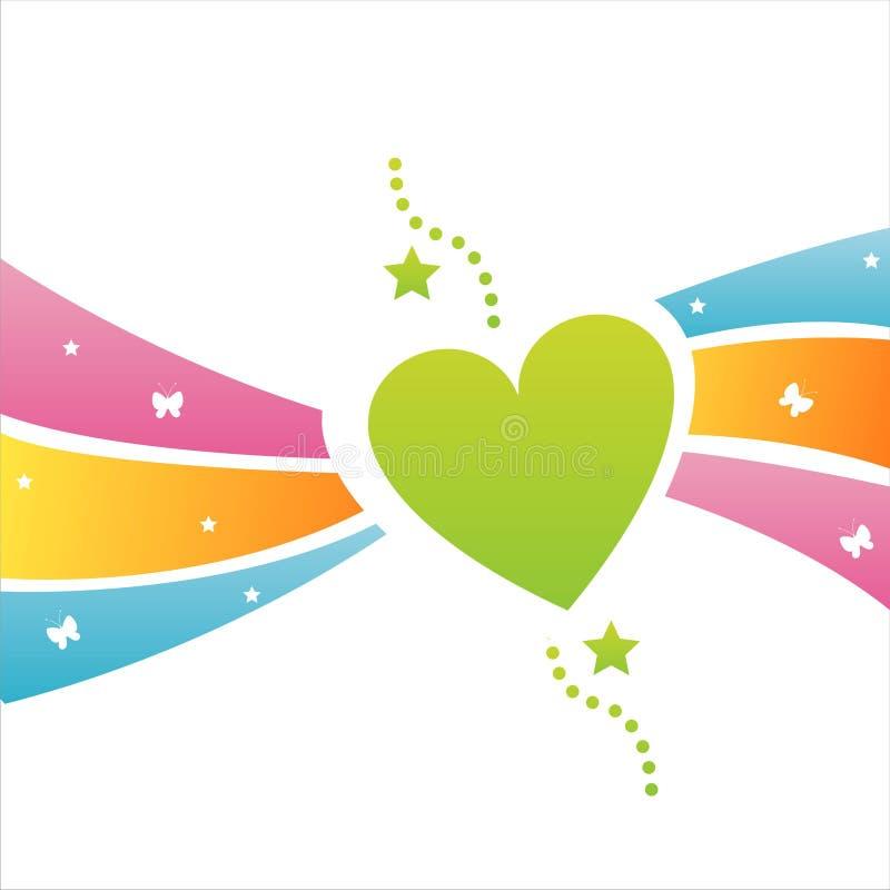 Fundo colorido do coração ilustração do vetor