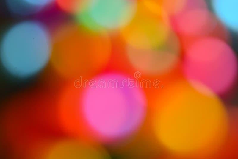 Fundo colorido do efeito do bokeh imagem de stock