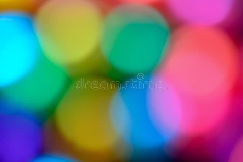 Fundo colorido do efeito do bokeh fotografia de stock royalty free