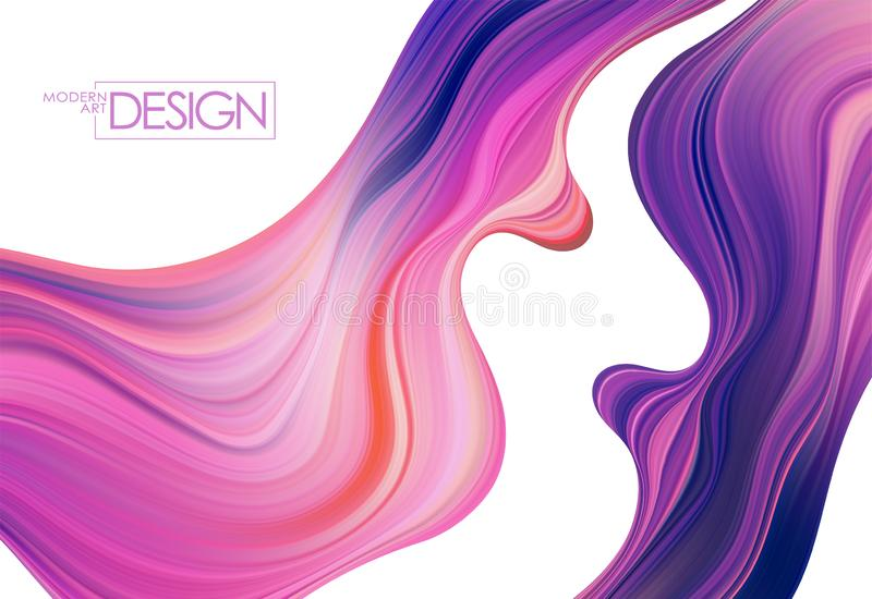 Fundo colorido do fluxo Forma do l?quido da onda Projeto na moda abstrato para seu projeto ilustração royalty free