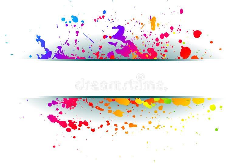 Fundo colorido do grunge. ilustração royalty free