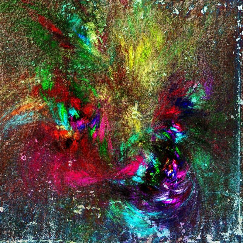 Fundo colorido do grunge quadrado ilustração do vetor