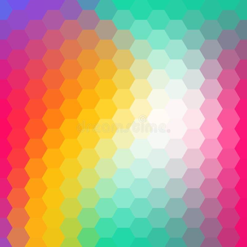 Fundo colorido do hex?gono Estilo poligonal Disposi??o para anunciar Eps 10 ilustração stock