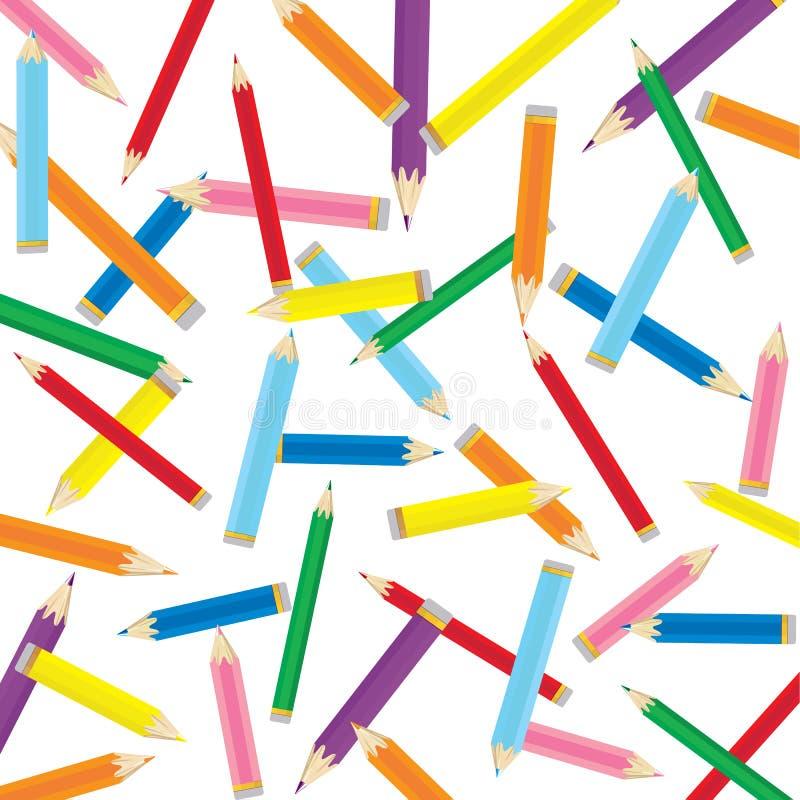 Fundo colorido do lápis ilustração royalty free
