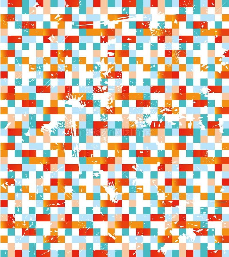 Fundo colorido do mosaico ilustração stock