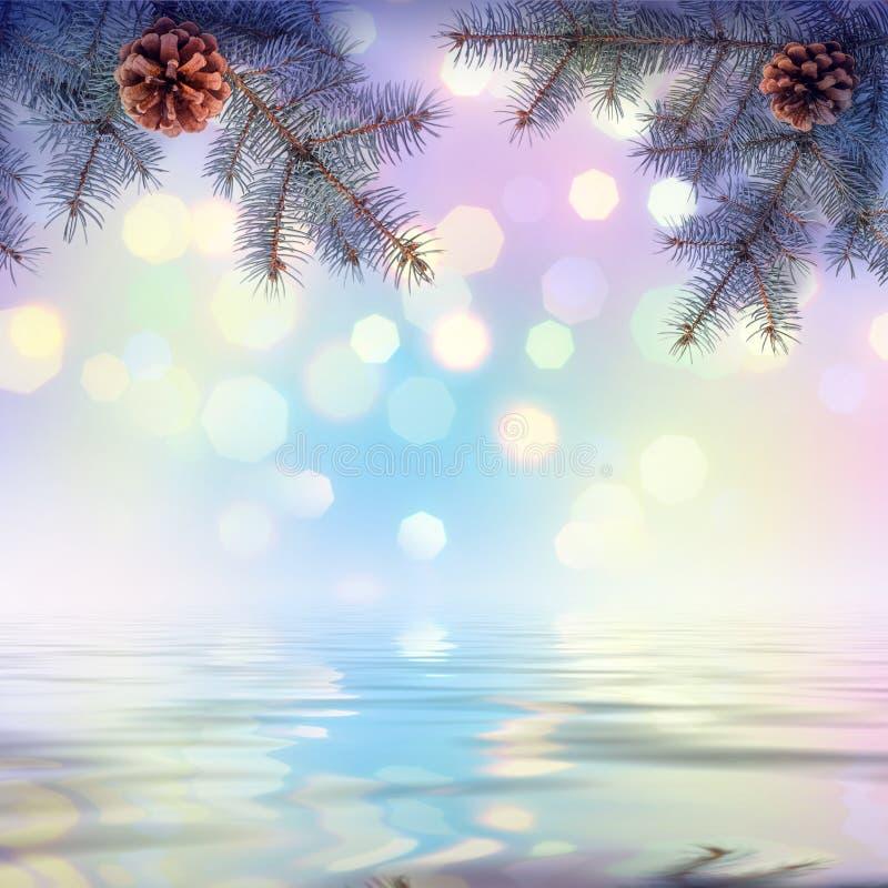 Fundo colorido do Natal imagens de stock royalty free