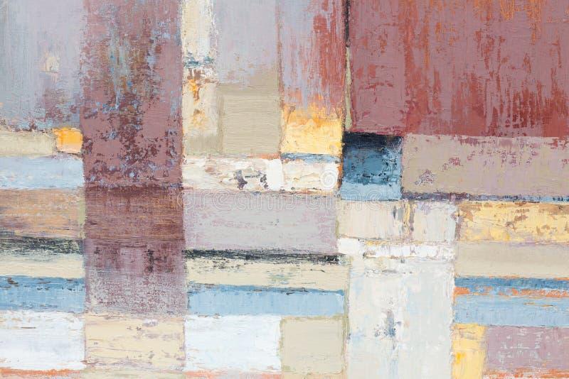 Fundo colorido do sumário do close up das pinturas de óleo dos artistas Óleo ilustração stock
