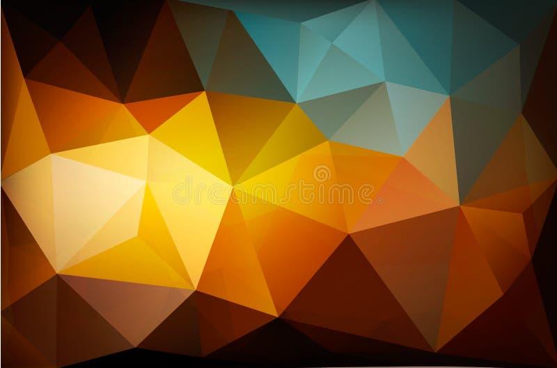 Fundo colorido do sumário do polígono ilustração royalty free