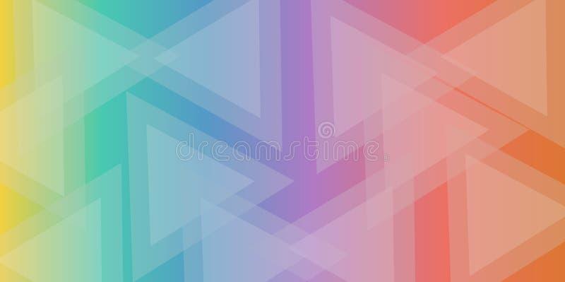Fundo colorido do sumário do triângulo ilustração royalty free