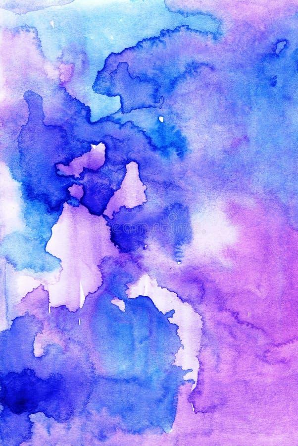 Fundo colorido do sumário do watercolour do desenho de lavagem para o diff ilustração royalty free