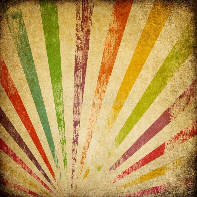 Fundo colorido do sunburst de Grunge. ilustração do vetor