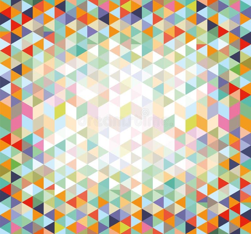 Fundo colorido do triângulo ilustração royalty free