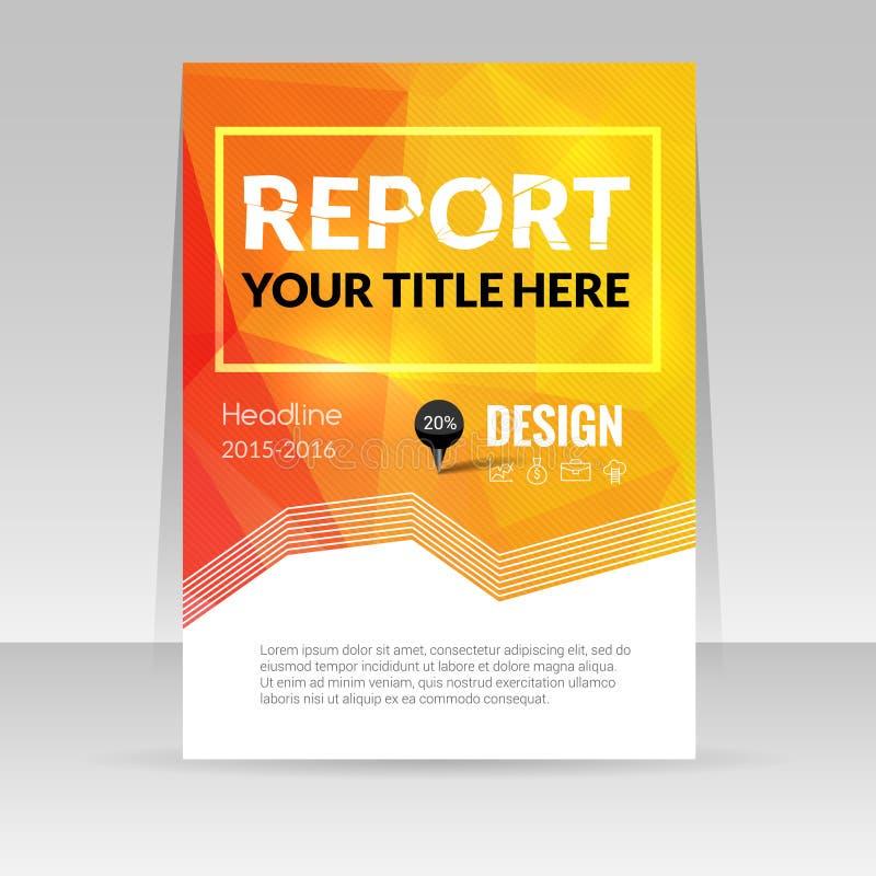 Fundo colorido do triângulo do projeto de negócio Pinos e gráfico infographic, compartimento da tampa, vetor do molde do relatóri ilustração royalty free