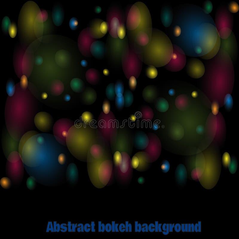 Fundo colorido do vetor abstrato do bokeh ilustração royalty free