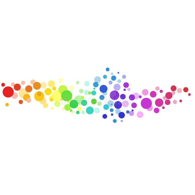 Fundo colorido do vetor dos círculos ilustração do vetor