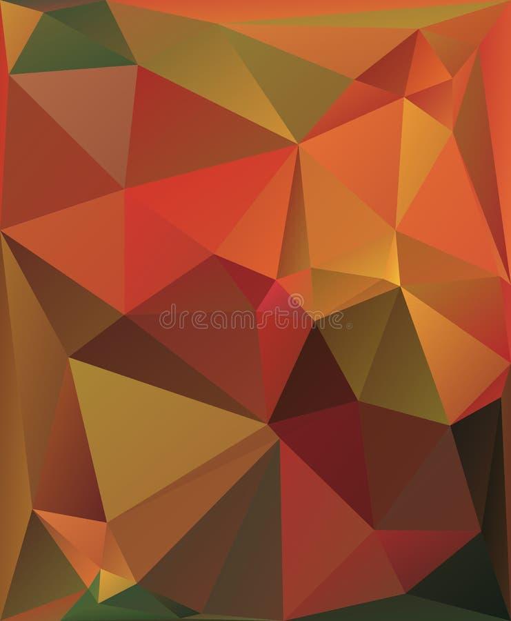 Fundo colorido do vetor dos triângulos ilustração stock