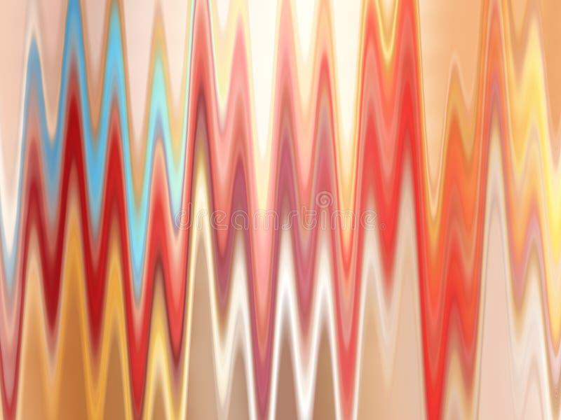 Fundo colorido do ziguezague ilustração stock