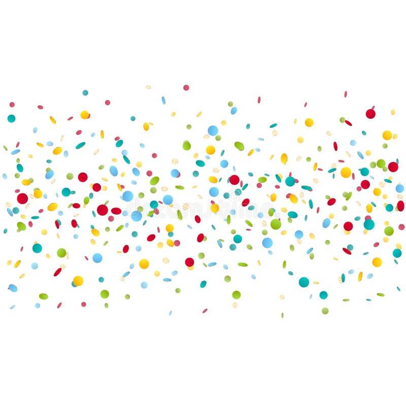 Fundo colorido dos confetes do carnaval ilustração royalty free