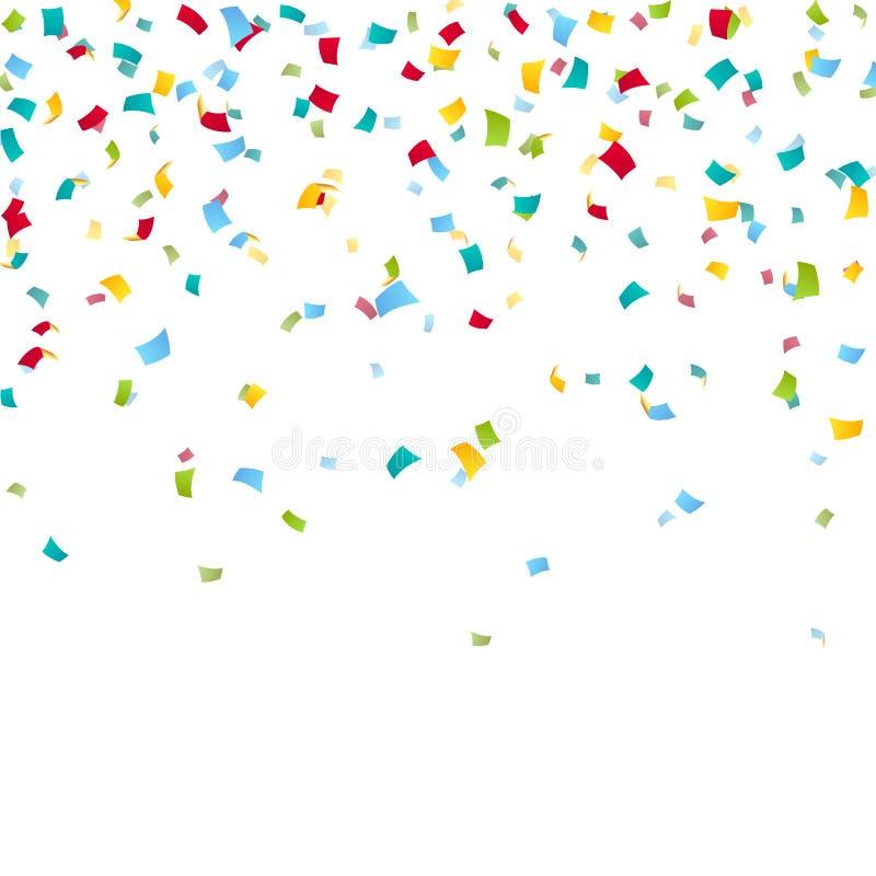 Fundo colorido dos confetes do carnaval ilustração do vetor