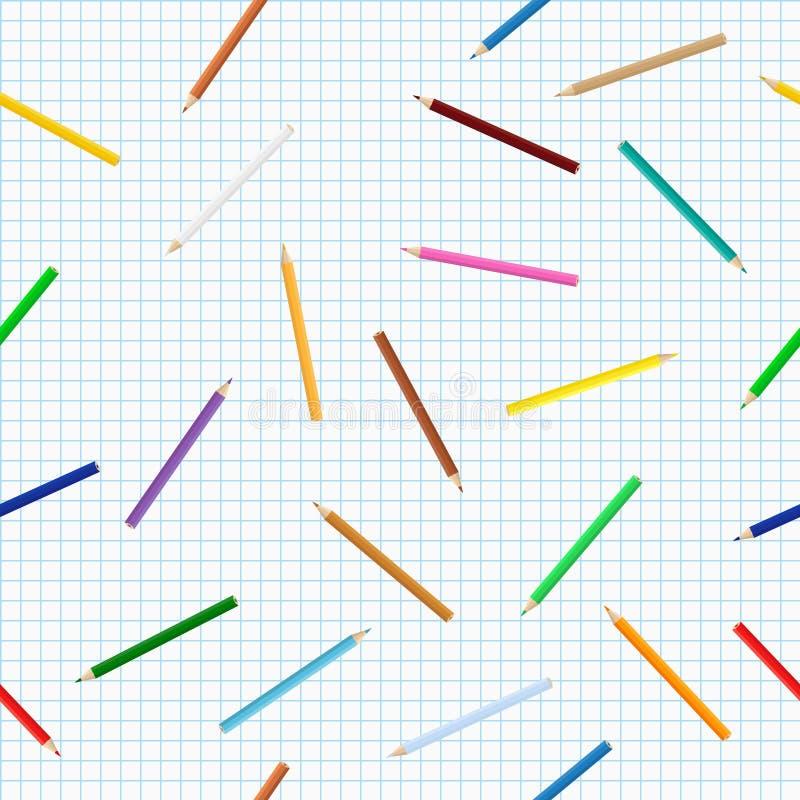 Fundo colorido dos lápis ilustração royalty free