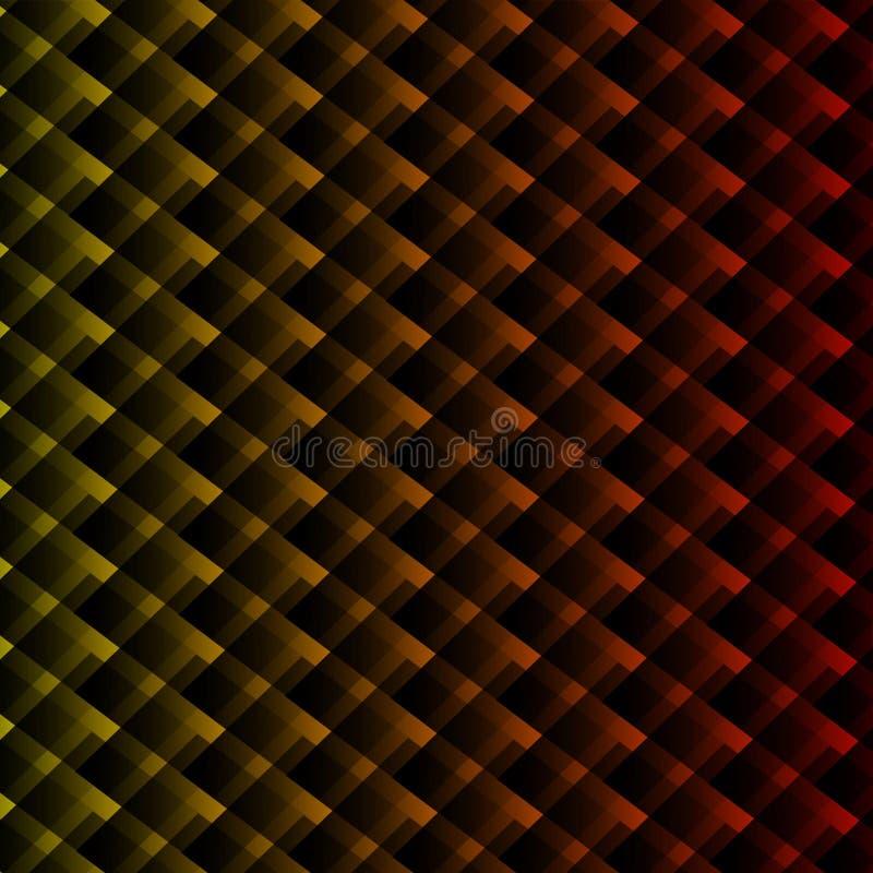 Fundo colorido dos quadrados Abstracção do vetor ilustração royalty free