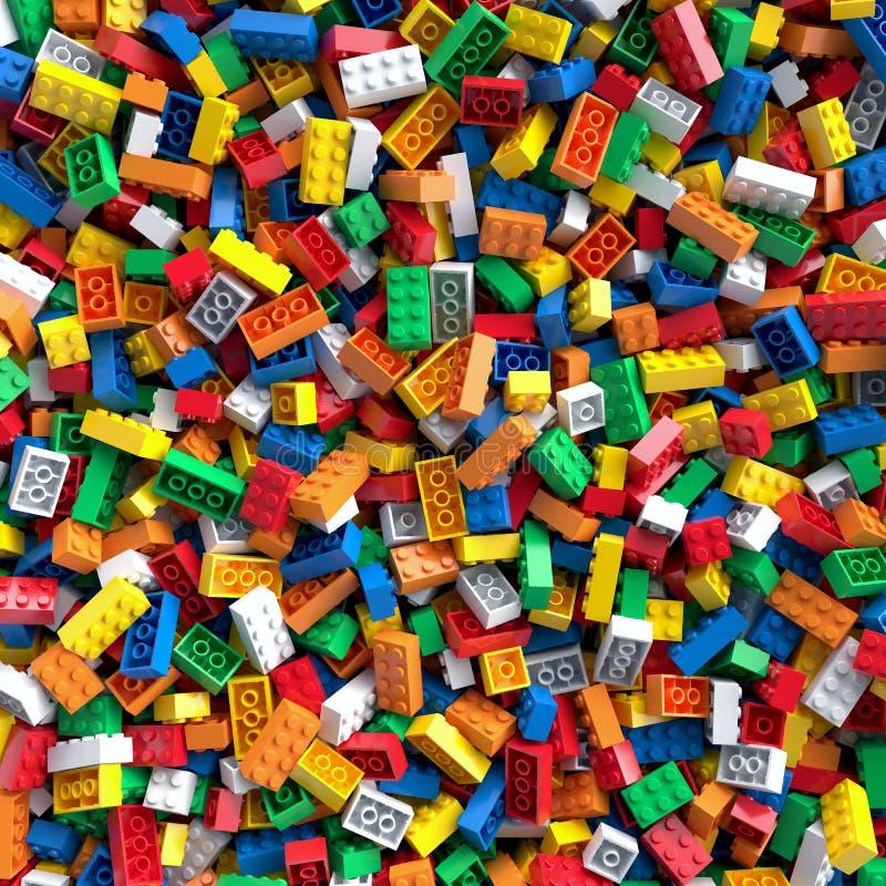 Fundo colorido dos tijolos do brinquedo ilustração do vetor