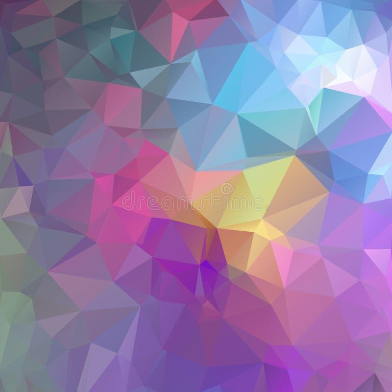 Fundo colorido dos triângulos, cores brilhantes quadradas, fundo abstrato festivo ilustração royalty free