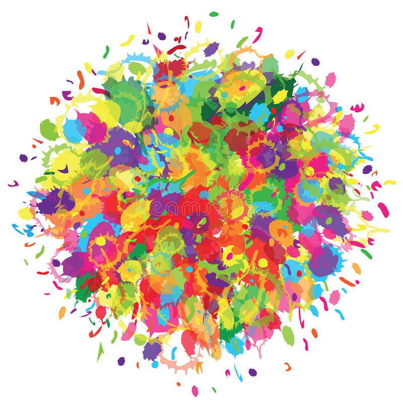 Fundo colorido feliz de Holi ilustração royalty free