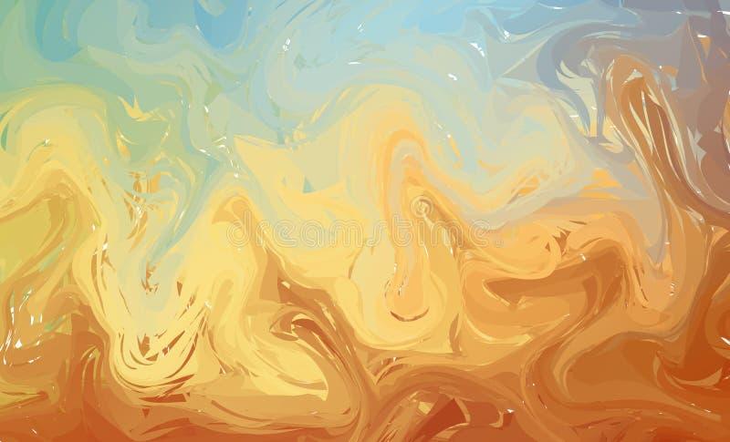 Fundo colorido fluido das formas Inclinações na moda pasteis O líquido dá forma à composição DES líquido moderno abstrato do inse ilustração do vetor