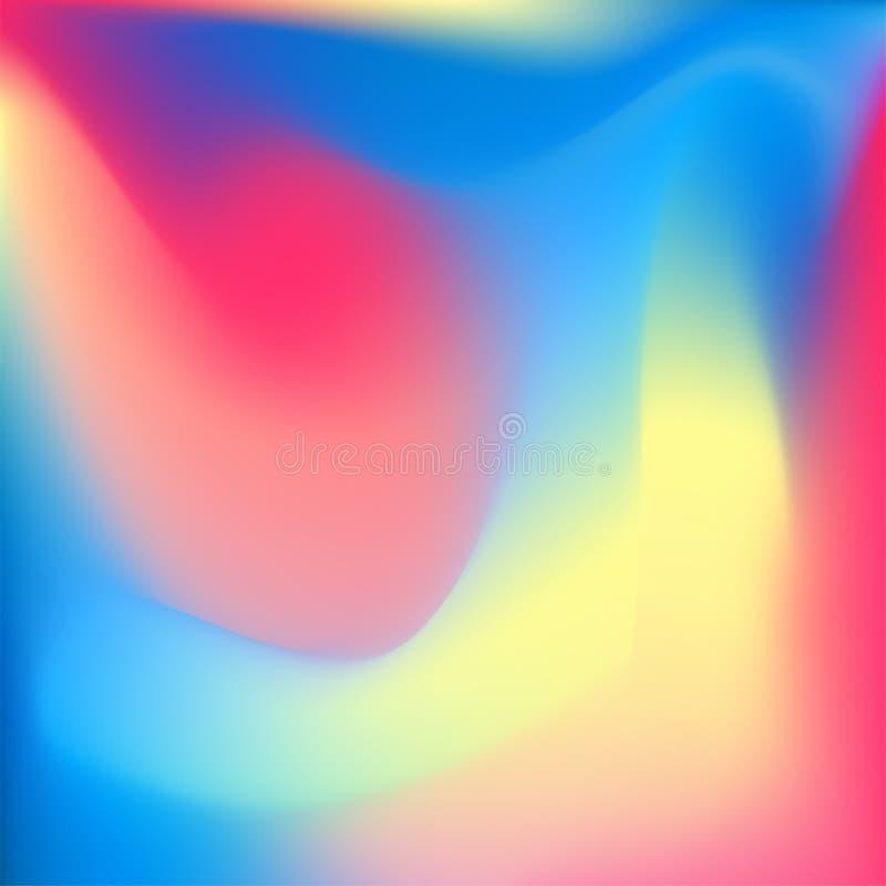 Fundo colorido iridescente do pastelmesh ilustração stock