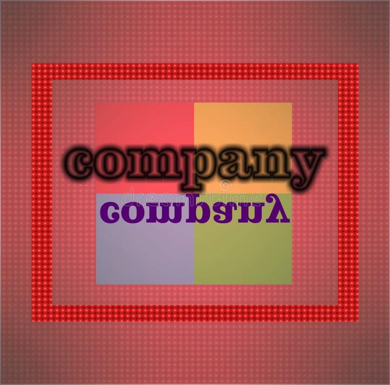 Fundo colorido para projeto gerado por computador do computador do logotipo da empresa ilustração royalty free