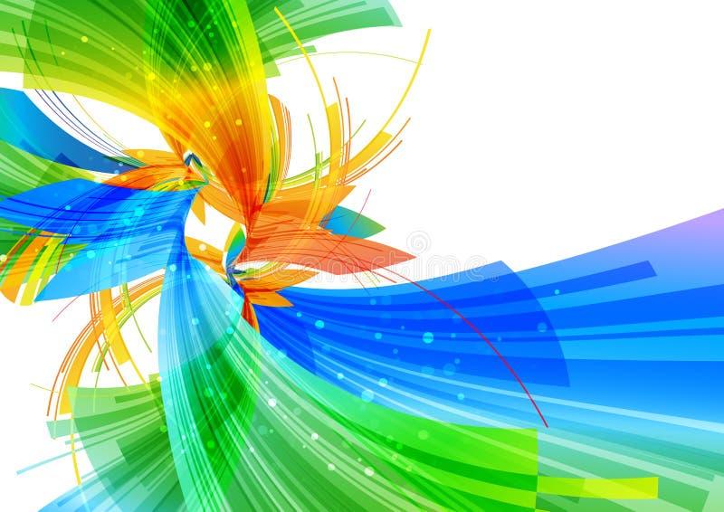 Fundo colorido, projeto abstrato no branco ilustração royalty free