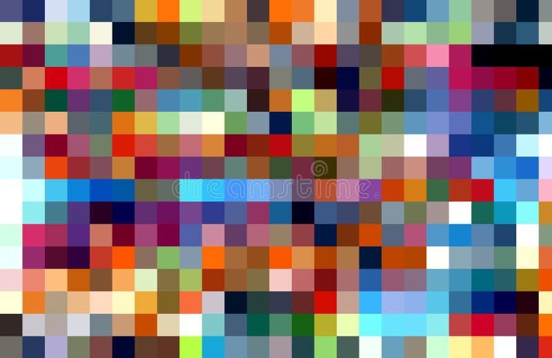 Fundo colorido quadrado vívido Ondas como formas, fundo abstrato ilustração royalty free