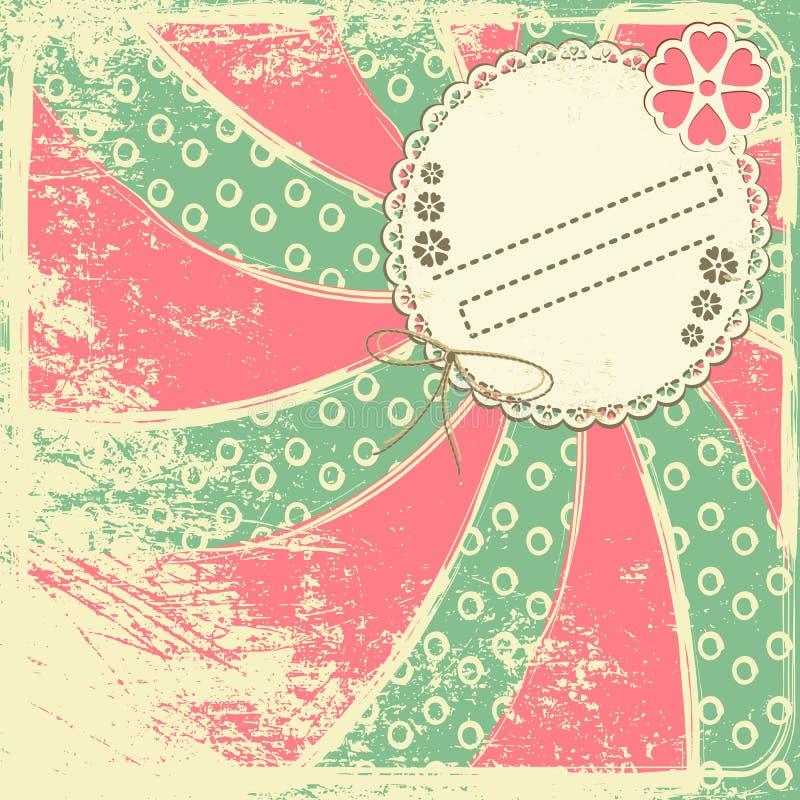 Fundo colorido retro. Com espaço para o texto ilustração do vetor