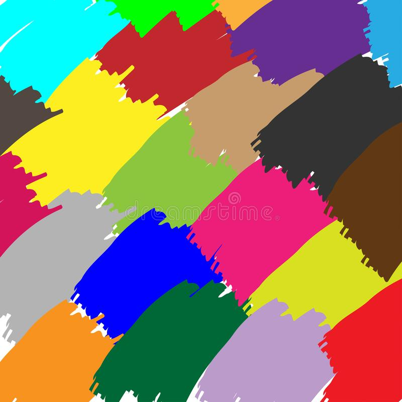 Fundo colorido RGB vectorBasic do sumário da escova de pintura ilustração stock