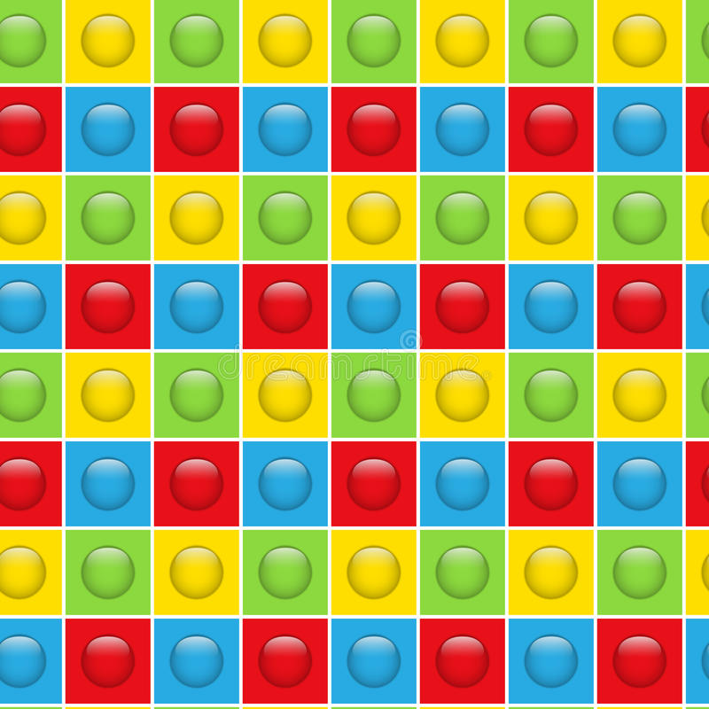 Fundo colorido sem emenda do teste padrão dos botões ilustração stock