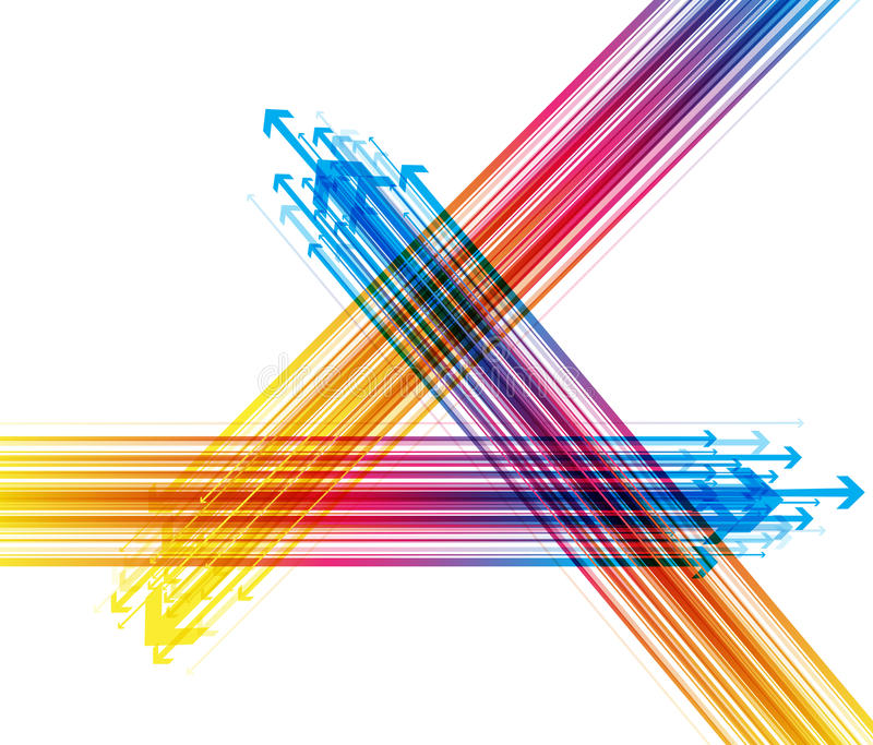 Fundo colorido sumário com setas ilustração do vetor