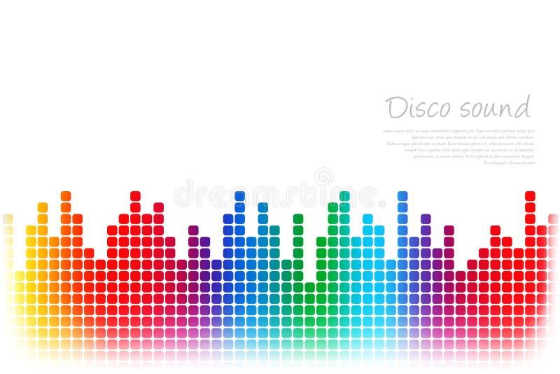 Fundo colorido sumário da música ilustração royalty free