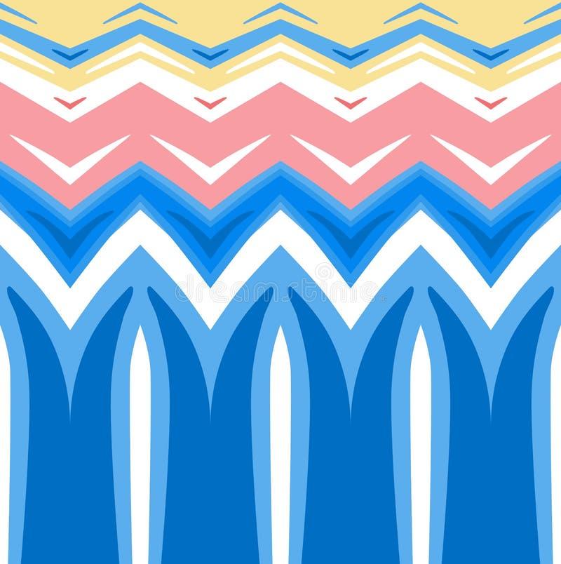 Fundo colorido sumário Teste padrão horizontalmente sem emenda ilustração royalty free