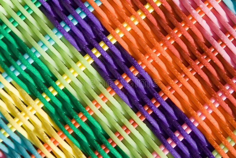 Fundo colorido Weave fotografia de stock