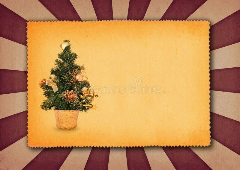 Fundo com árvore de Natal foto de stock