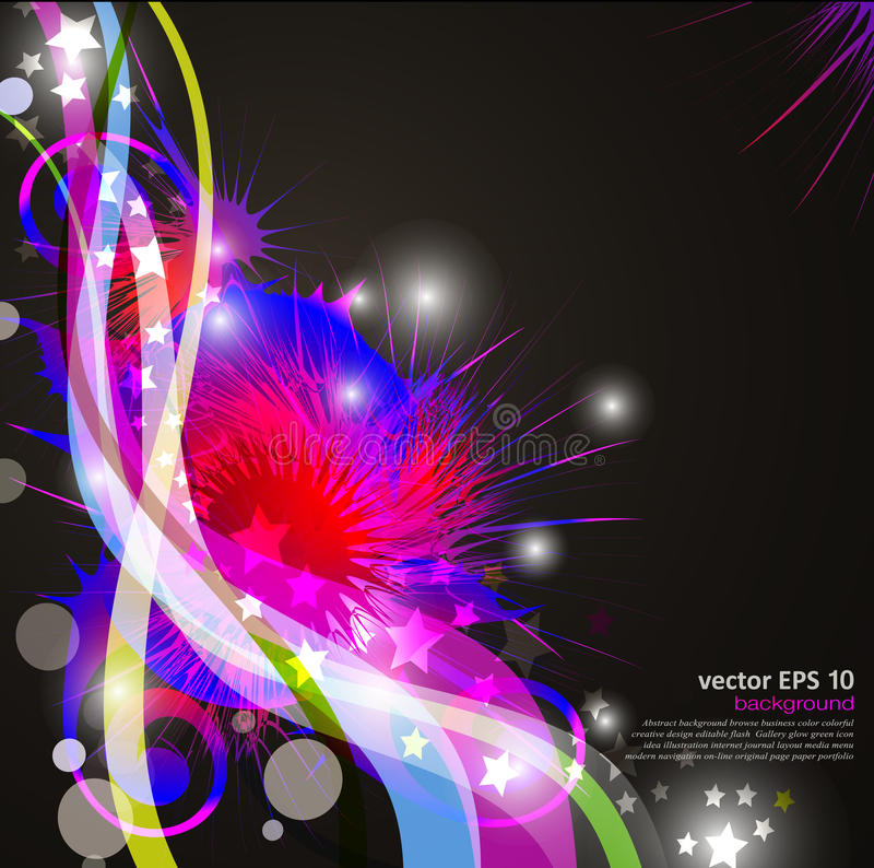 Fundo com as flores abstratas brilhantes, coloridas ilustração do vetor