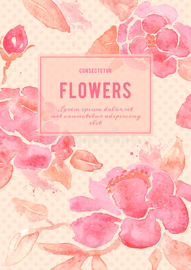 Fundo com as flores da peônia no vetor ilustração do vetor